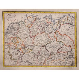 Germany divided in its Circles, Kitchin antique map 1780