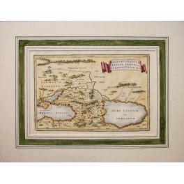 Sarmatien asiatica, Iran Geschichte feine Karte von Cellarius 1790