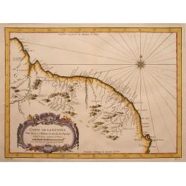 1757 antique map Guyana, Venezuela, America, D'Anville