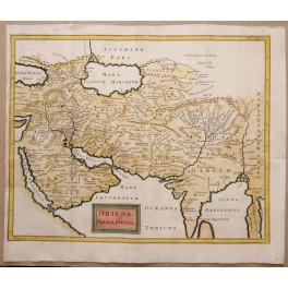 1747 ORIENS, PERSIA, INDIA antique map Ch. Cellarius