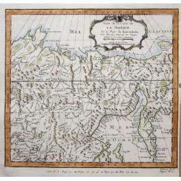 Siberia Eastern Russia Kamchatka, Bellin Map 1747