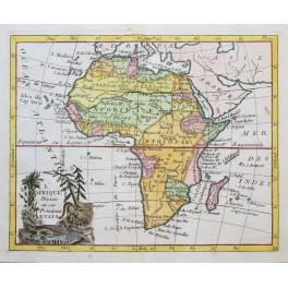 Antique map of Africa, Afrique by De La Porte 1786